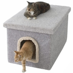 Miller's Cats litter box cover