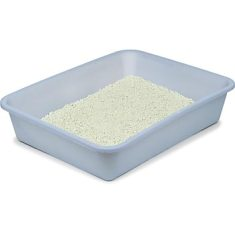 Fresh Kitty Frosted Pan - blue plastic cat litter tray