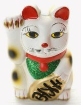 Maneki Neko sculpture