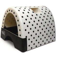 Kitty A Go-Go Polka Dot covered litter box