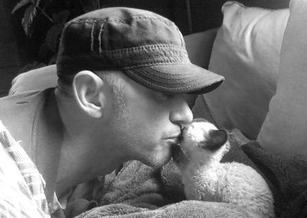 Paul Mc Sorley and his darling cat