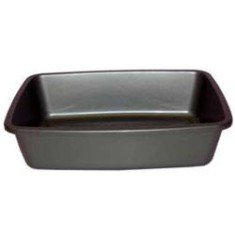 black plastic cat litter pan